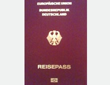 In German: The European Union, The Federal Republic of Germany, Passport